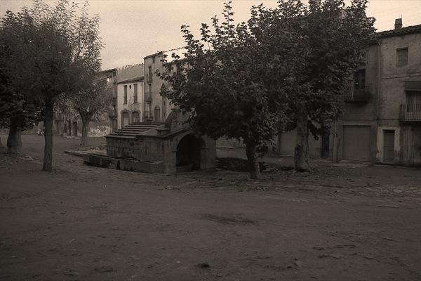 Aspecte de la plaça abans de la remodelació Foto: Ramon Sunyer - Torà
