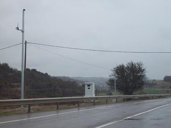 Radar situat a la sortida de Calaf - Torà