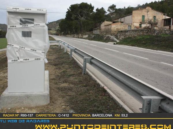 Radar situat a la sortida de Copons - Torà