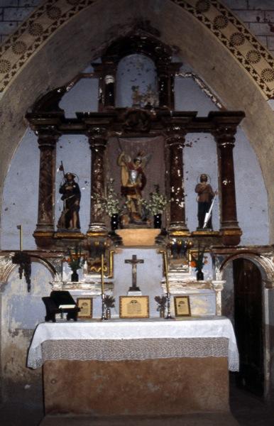 10.09.1998 Detall del retaule de l'església  Fontanet -  Ramon Sunyer