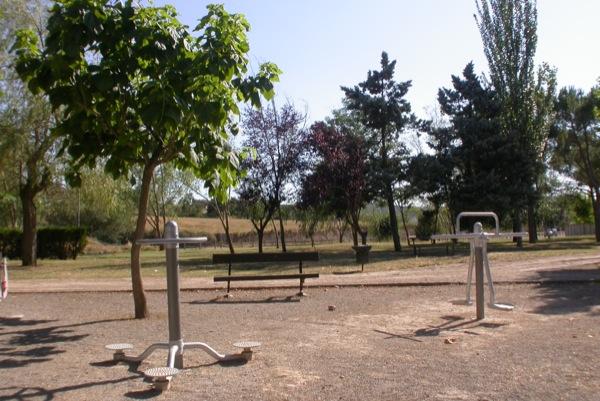23.08.2010 Parc detall dels aparells gimnàstics  Torà -  Ramon Sunyer