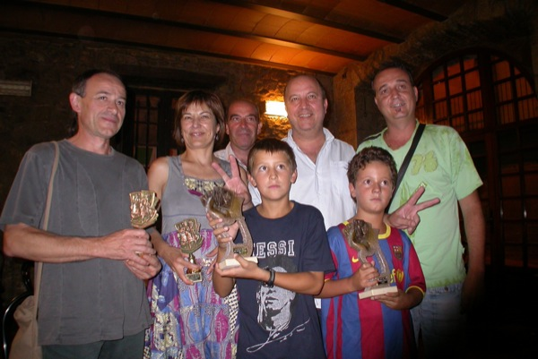 28.08.2010 Isidre Sunyer, Emília Borda ( sostcampions), Celi (organització), Ramon Bosch i Joan Graells (campions)  Torà -  Ramon Sunyer