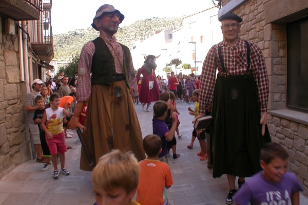 28.08.2010 Els Gegants, el Jovans i el Sergentet  Torà -  Ramon Sunyer