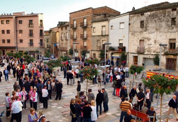 plaça del vall a Torà - Torà