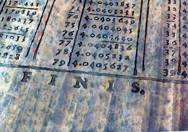 10.09.1994 Sèrie Abstracció matemàtica: Finis I  -