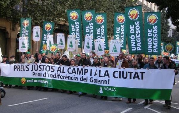 Manifestació Preus justos al camp i la ciutat                                                                   -