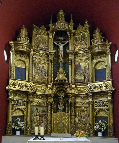 25.04.2010 Retaule de l'altar major de sant Martí de llanera, que l'any 1968
