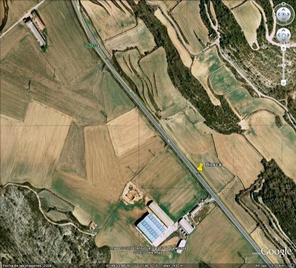 Situació del radar de Biosca - Biosca