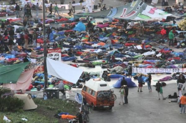 27.05.2011 Detall de l'acampada a plaça catalunya  Barcelona -