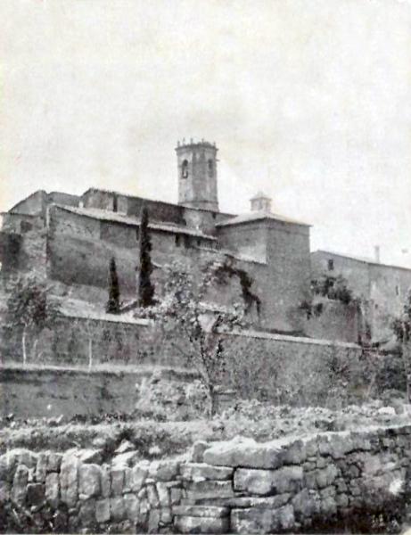 05.02.1920 Postal antiga de la part del castell  Torà -