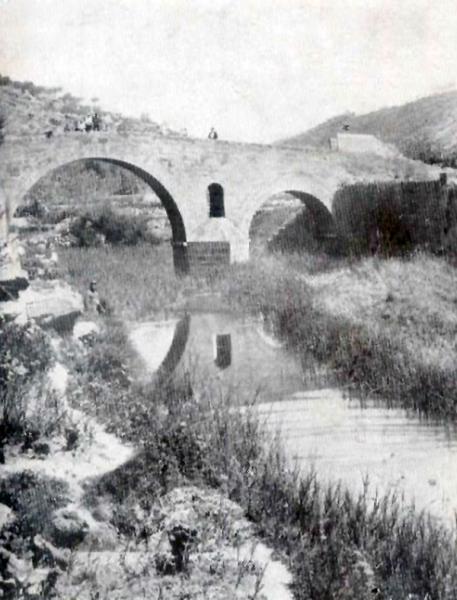05.02.1920 Postal antiga del pont de les Merites  Torà -