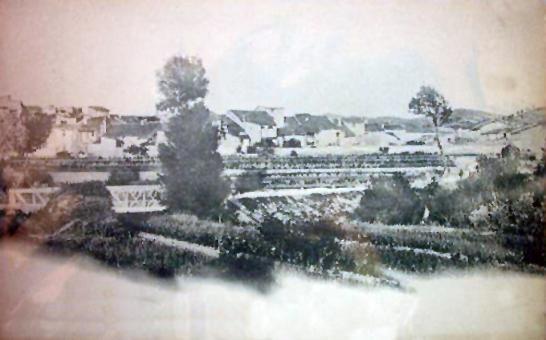 05.02.1920 Postal antiga de Torà des la carretera amb l'antic pont de ferro  Torà -