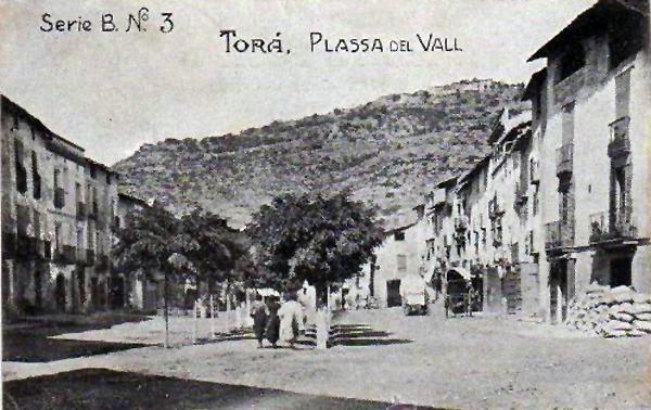 04.05.1920 Postal antiga de la plaça del vall  Torà -