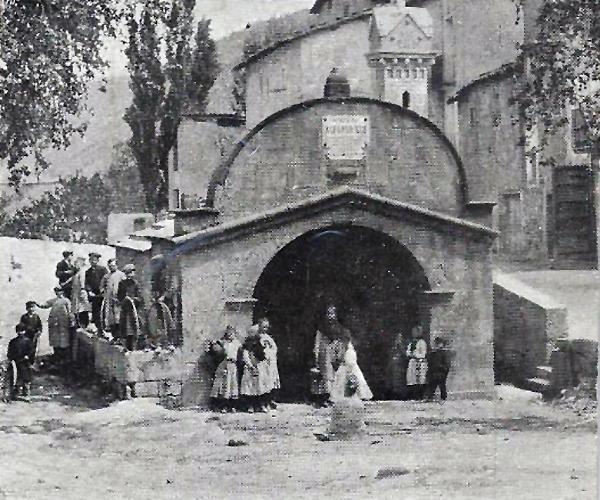 25.03.1912 Postal antiga de la plaça de la Font  Torà -