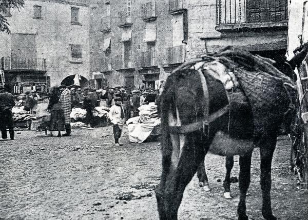 10.11.1914 Fira de sant Andreu a la plaça del Vall (1914)  Torà -