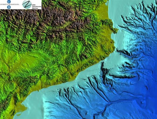 Mapa general de l'àrea d'estudi de la campanya Promares-Oasis del Mar -