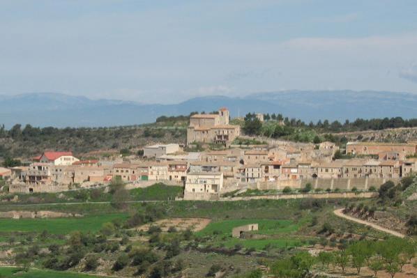 Vista general de Montornès de Segarra a la vall del Cercavins - Montornès de Segarra