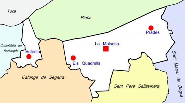 Plànol del municipi de la Molsosa - La Molsosa