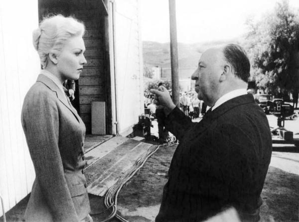 Kim Novak i Alfred Hitchcock al rodatge de Vértigo -