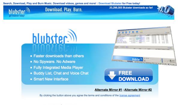 Pàgina web de Blubster