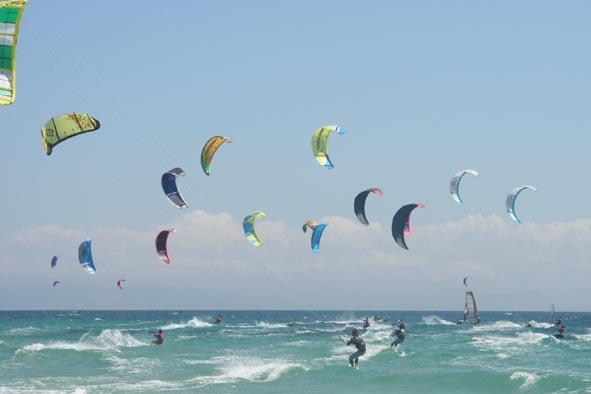 practica del kitsurf -