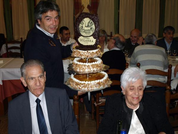31.03.2012 Sopar al restaurant Jaumet, Armand Forcat i la seva esposa M. Teresa  Torà -  Fòrum l'Espitllera