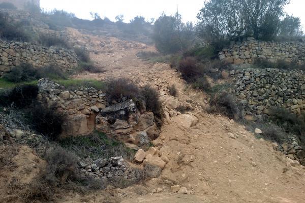 08.01.2012 Vista del tram final de les obres  L'Aguda -  Ramon Sunyer