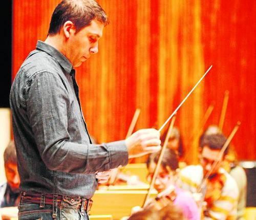 Agustí López Piñol director de la Jove Orquestra de Ponent -