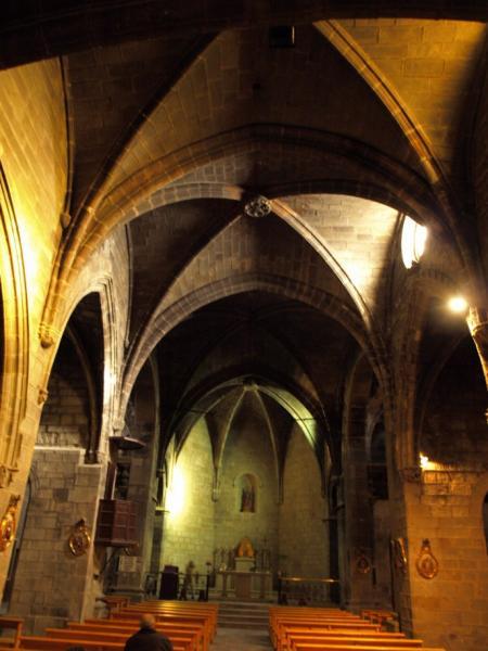 Interior de l'església de Santa Maria - Sanaüja