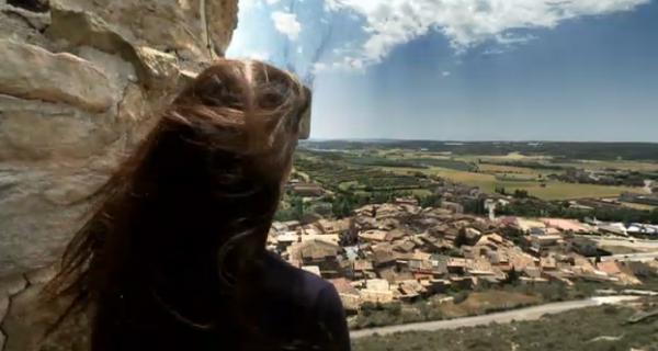 Maria Graganté al castell de Sanaüja -