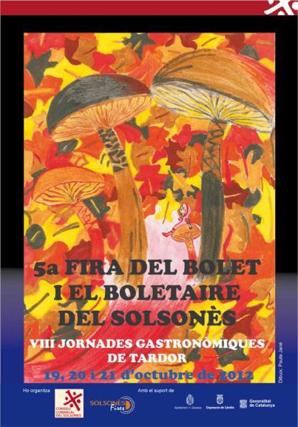 cartell V Fira del Bolet i el Boletaire del Solsonès VIII Jornades Gastronòmiques de Tardor - solsona