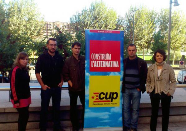 Presentació dels caps de llista de la CUP per Lleida