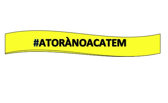 Logotip del grup #ATORÀNOACATEM - Torà