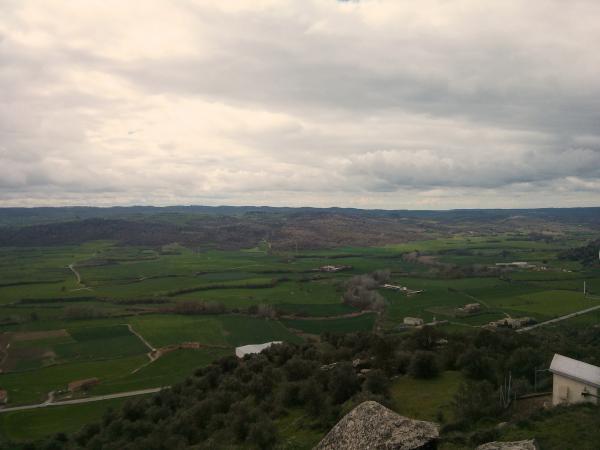 Vista a la vall del Llobregós - L'Aguda