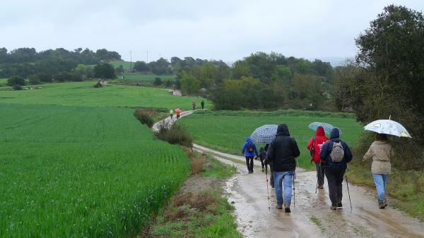 28.04.2013 28 d'abril. Caminada de Torà sota la pluja  -  Xavier