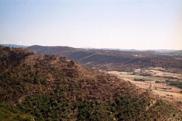 18.09.1998 Vistes de la serra de Claret i les Valls  L'Aguda -  Ramon Sunyer