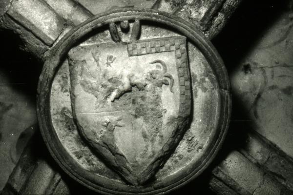 Escut dels Cardona a la capella de santa Llúcia Foto: Ramon Sunyer - Torà