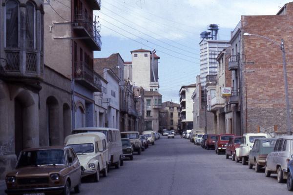 08.08.2013 Vista de la ctra de Solsona amb la fàbrica de farina al fons  Torà -  Ramon Sunyer