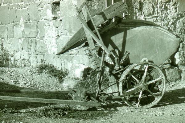 08.08.1989 Màquina de segar Trepat  Torà -  Ramon Sunyer