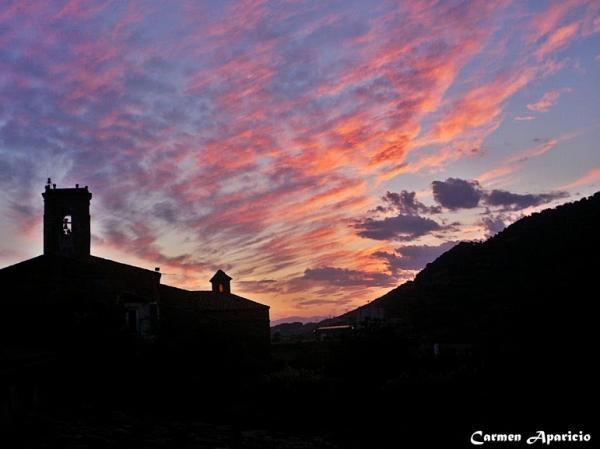 15.09.2013 Posta de sol des de la meva finestra  Torà -  Carmen Aparicio