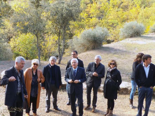 Visita del conseller de cultura Ferran Mascarrell a la torre