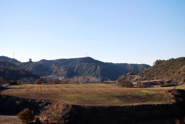 30.12.2013 Vista del poble  Castellfollit de Riubregós -  Ramon Sunyer