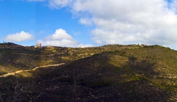Vista de la serra de Pinós