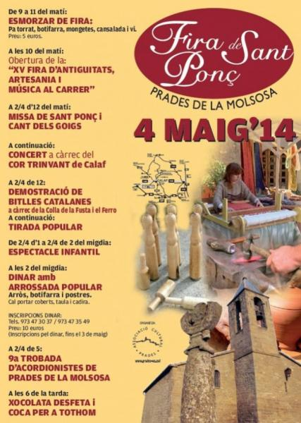 cartell Fira de Sant Ponç 2014