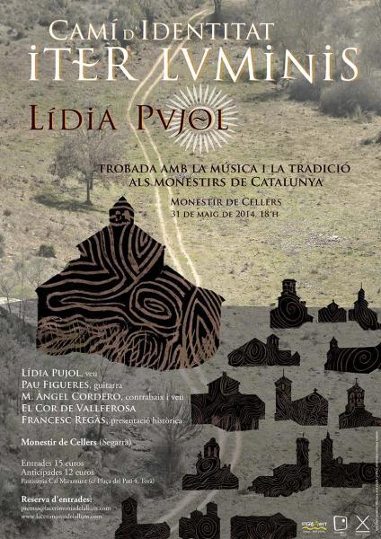 cartell Concert Iter Luminis amb Lidia Pujol