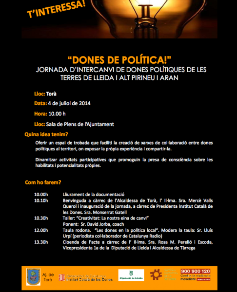 cartell Jornada Dones de Política