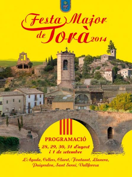 cartell festa major Torà 2014