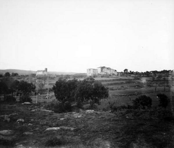 19.09.1912 El nucli de Sant Serni amb l'església de Sant Serni de Llanera des de la rodalia  Sant Serni -  Cèsar August Torras