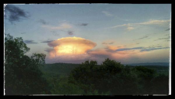 27.10.2014 Paisatge a la posta de sol  Madrona -  Ramon Sunyer