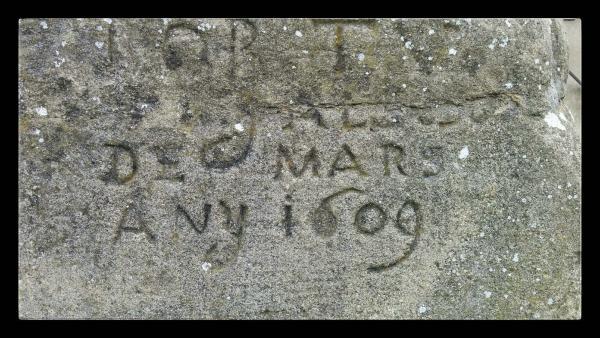 18.10.2014 detall inscripció  Sant Climenç -  Ramon Sunyer